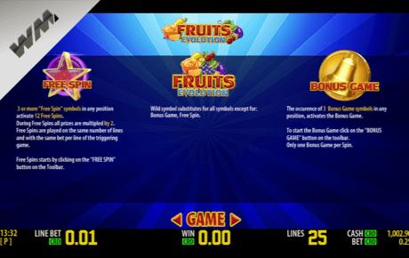 fruits evolution slot machine online