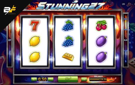 stunning 27 slot machine online