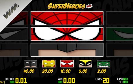 superheroes slot machine online