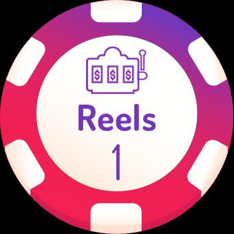 1 reels slot machines logo