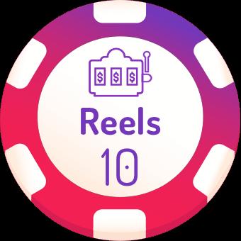 10 rells slots logo