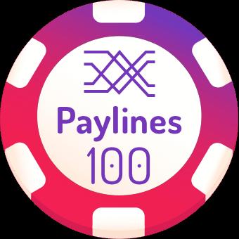 100 paylines slots logo