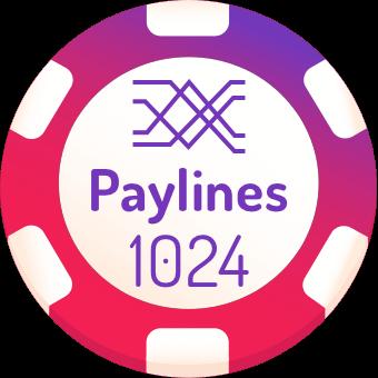 1024 paylines slots logo