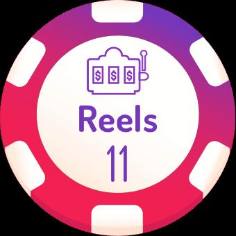 11 rells slots logo