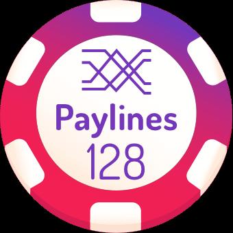 128 paylines slot machines logo