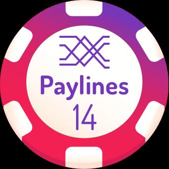 14 paylines slots logo