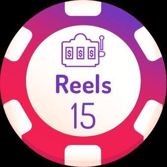 15 rells slots logo