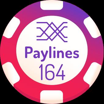 164 paylines slot machines logo