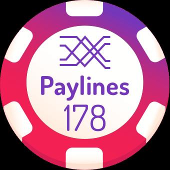 178 paylines slots logo