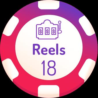 18 rells slots logo