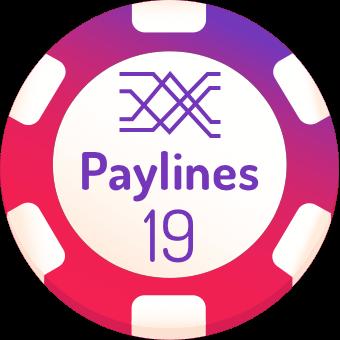 19 paylines slots logo