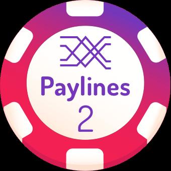2 paylines slots logo