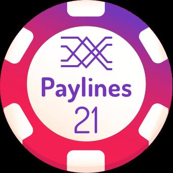 21 paylines slots logo