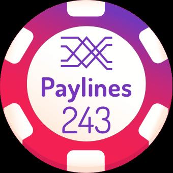 243 paylines slots logo