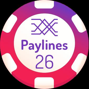 26 paylines slots logo