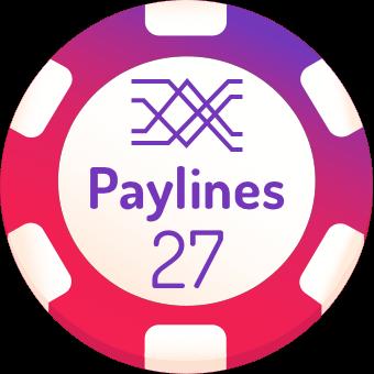 27 paylines slot machines logo