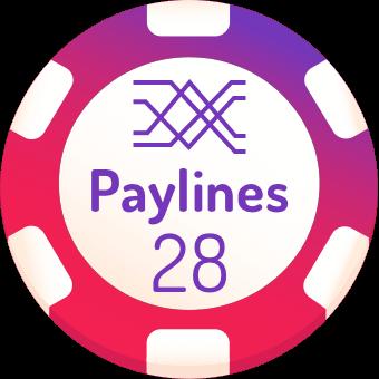 28 paylines slot machines logo