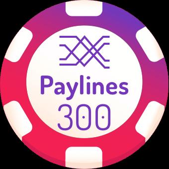 300 paylines slot machines logo