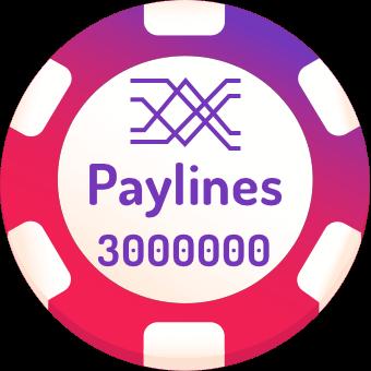 3000000 paylines slots logo