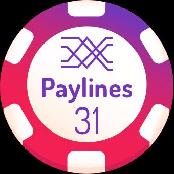 31 paylines slot machines logo