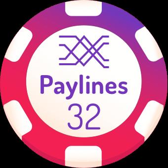 32 paylines slot machines logo
