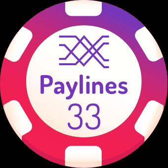 33 paylines slots logo