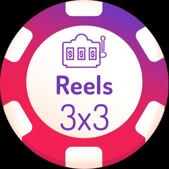 3x3 rells slots logo
