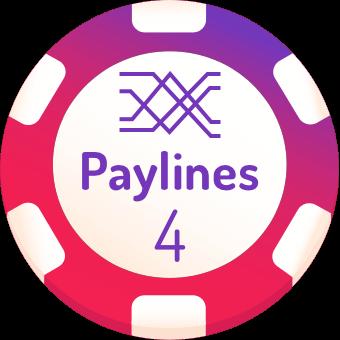 4 paylines slots logo