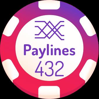 432 paylines slot machines logo
