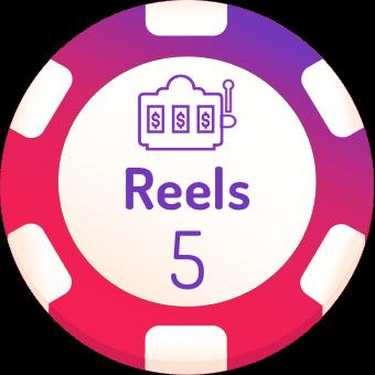 5 rells slots logo