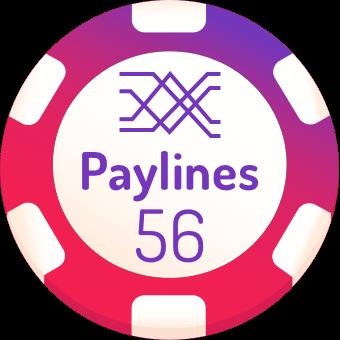 56 paylines slot machines logo