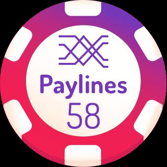 58 paylines slots logo