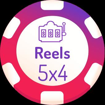 5x4 rells slots logo