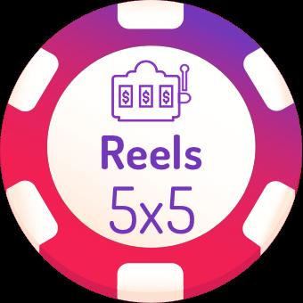 5x5 rells slots logo