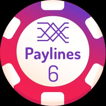 6 paylines slots logo