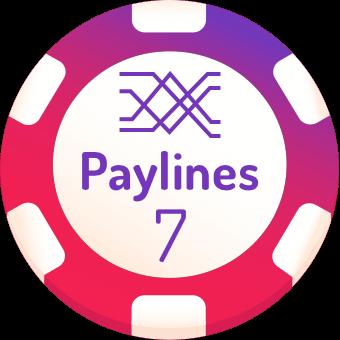 7 paylines slots logo