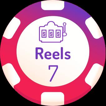 7 reels slot machines logo