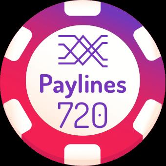 720 paylines slot machines logo