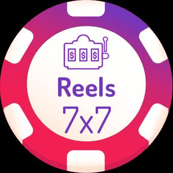 7x7 rells slots logo
