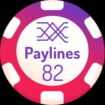 82 paylines slots logo