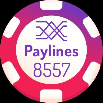 8557 paylines slot machines logo