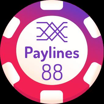 88 paylines slots logo