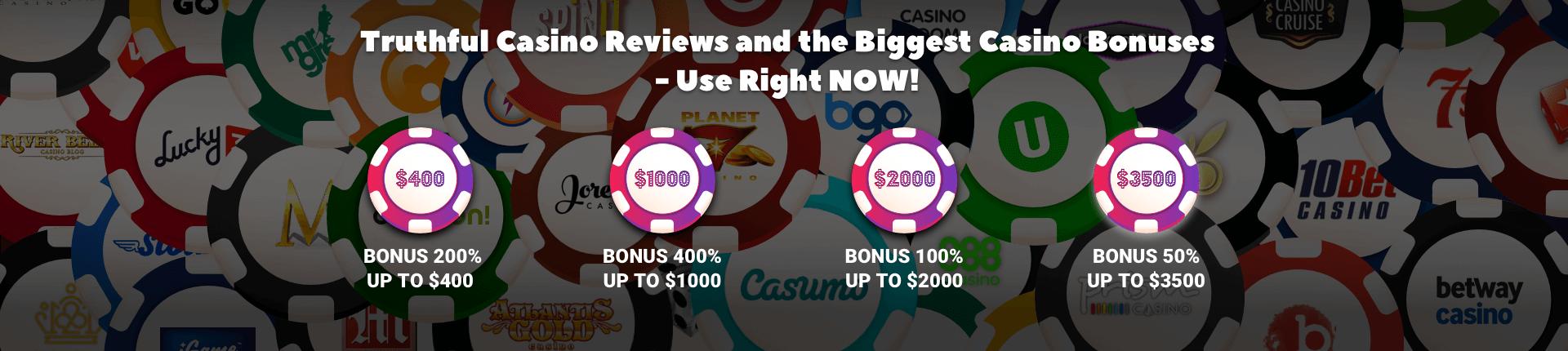 online casinos reviews banner
