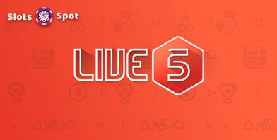 live 5 gaming slots free logo