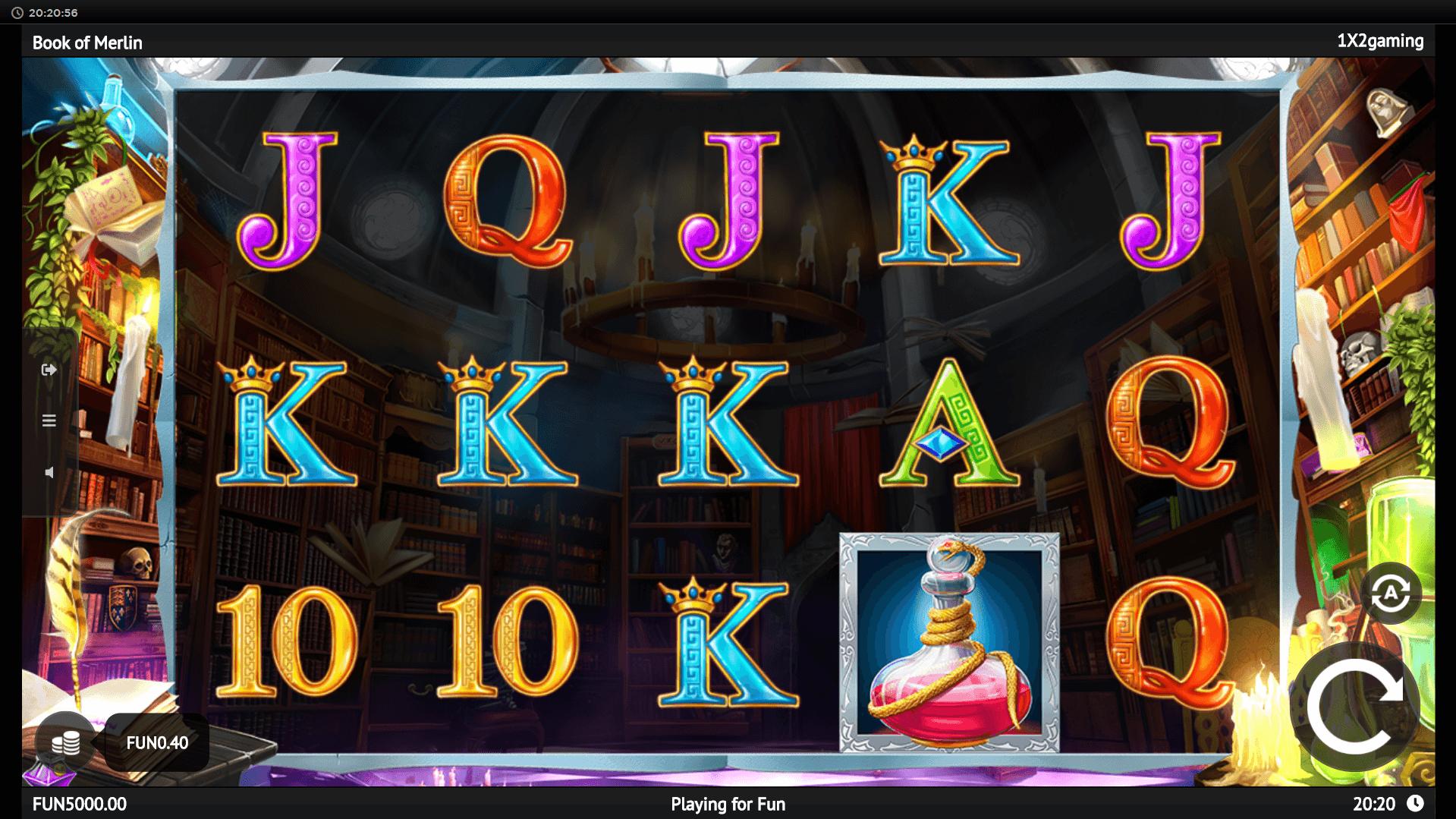 Book Of Merlin slot machine screenshot