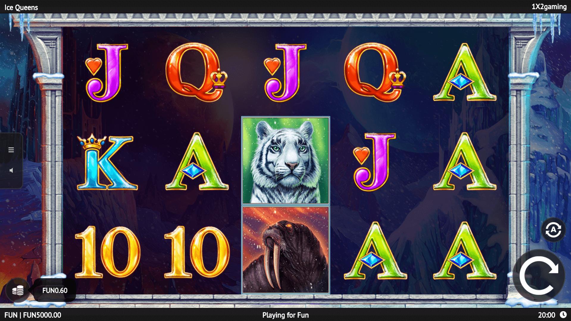 Ice Queens slot machine screenshot
