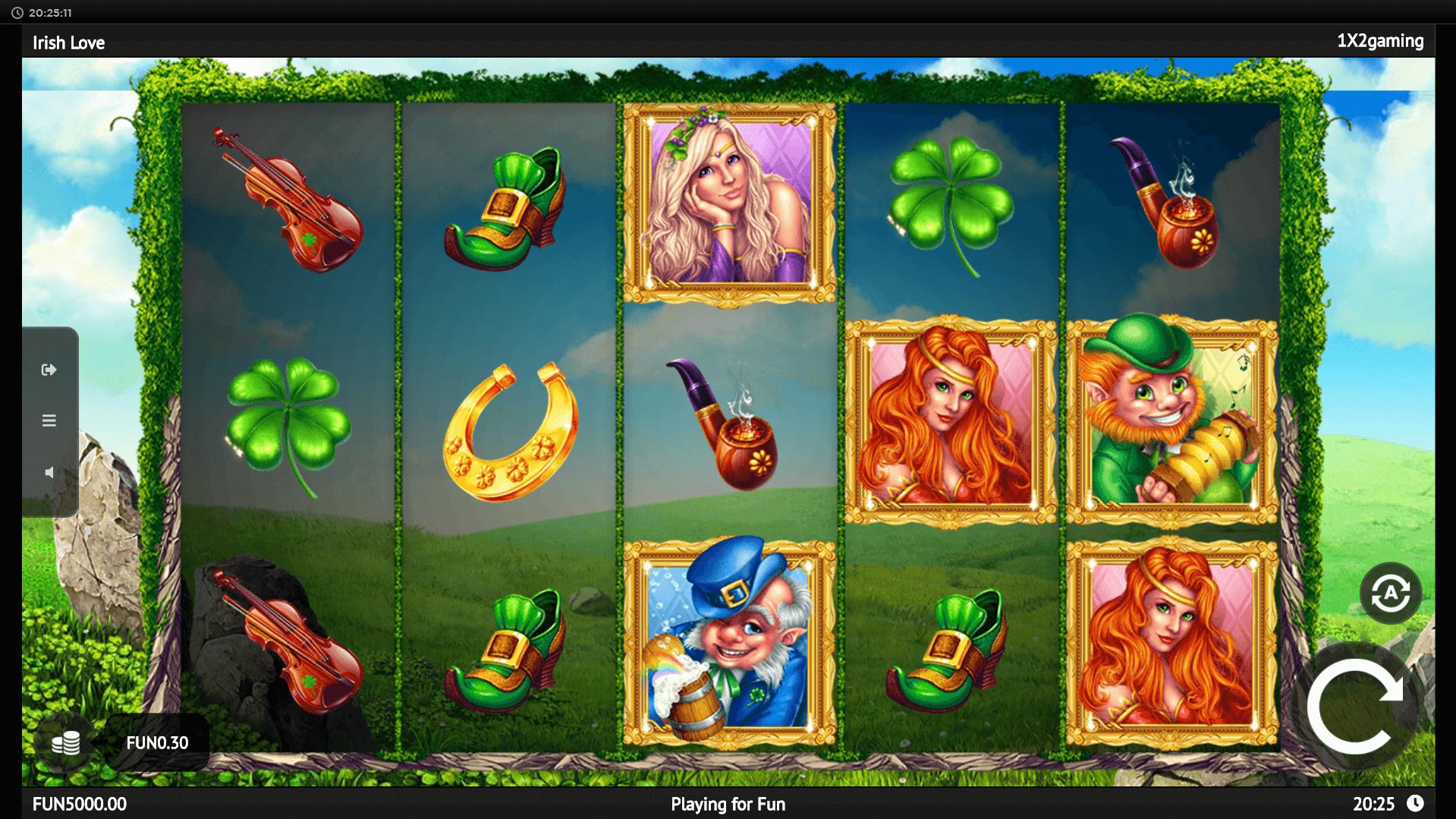 Irish Love slot machine screenshot