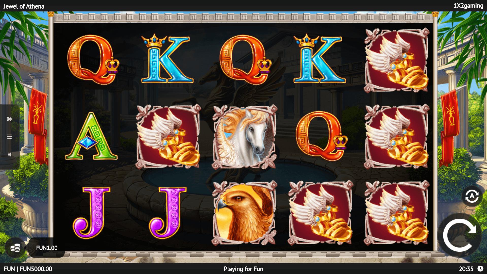Jewel of Athena slot machine screenshot