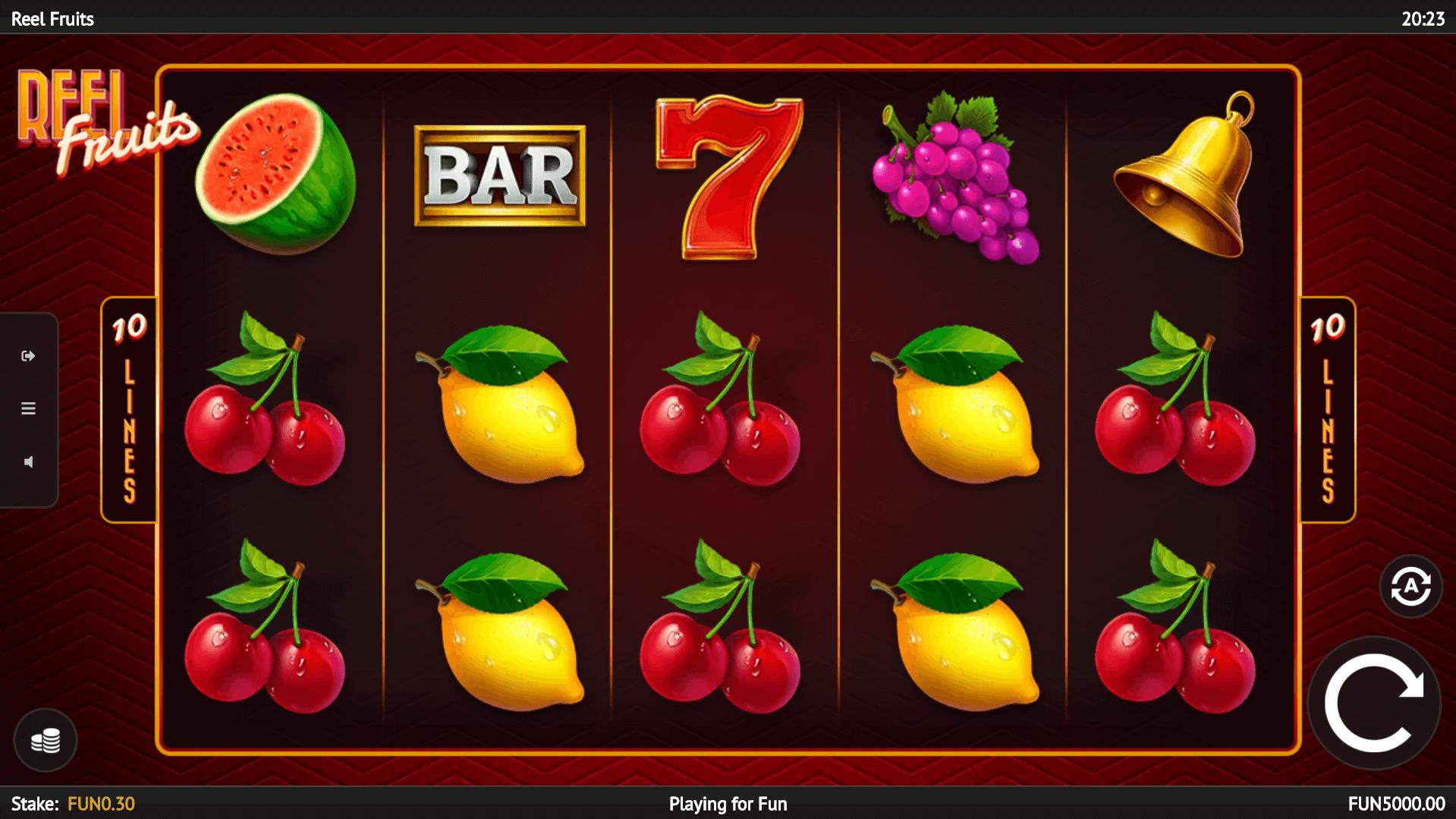 Reel Fruits slot machine screenshot