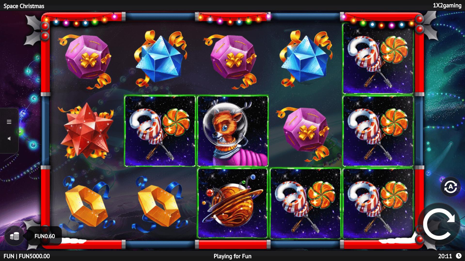 Space Christmas slot machine screenshot